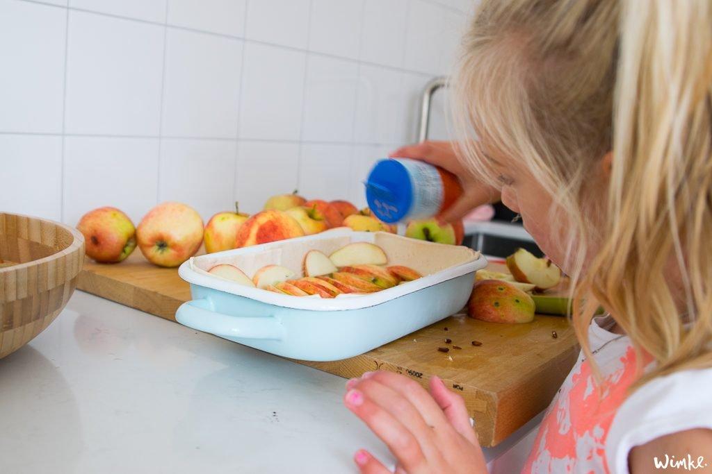 Plaattaart maken van appels - www.wimke.nl