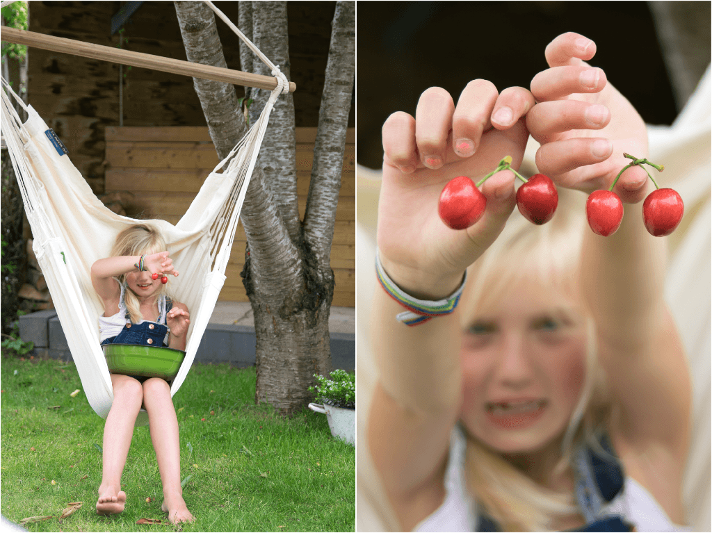 Hangstoel in de tuin - Wimke