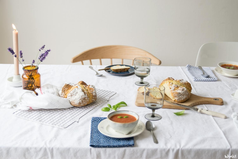 supersnel sodabrood met tomatensoep - wimke