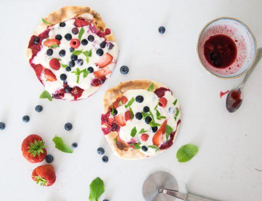 Zomerpizza's met fruit - wimke