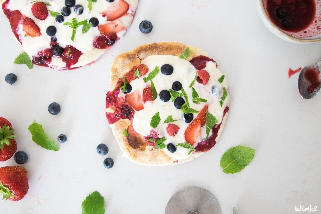 zomerpizza's met rood fruit zelf maken - wimke