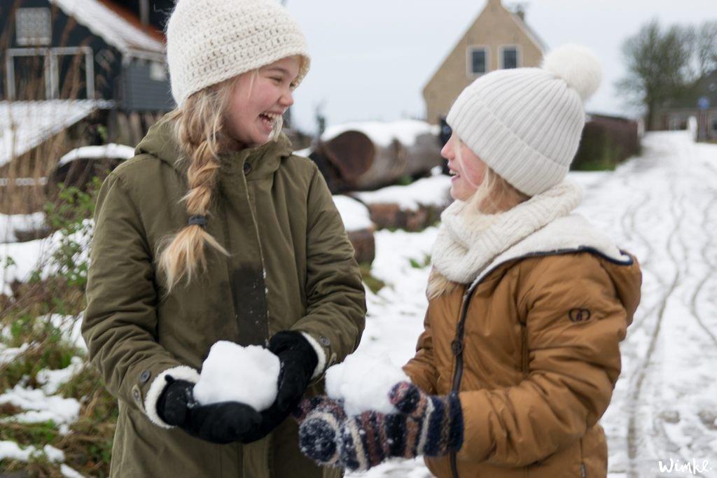Kerst & Sneeuwfoto's - Bente & Madee - www.wimke.nl