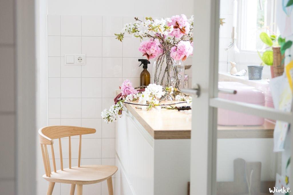 Een boeket bloemen op tafel voor niks! www.wimke.nl