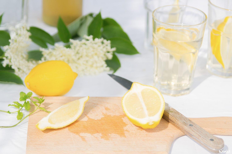 Recept voor Vlierbloesemlimonade