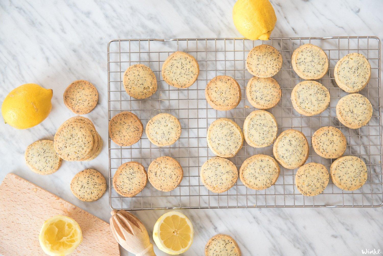 Shortbread koekjes met citroen & maanzaad